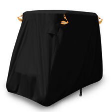 2-Passenger Waterproof Golf Buggy Cart Cover Storage Black For Yamaha EZ Go Club