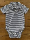 Vineyard Vines polo blue and white striped bodysuit with patriotic whale 12-18mo