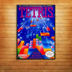 Tetris Game Cover Print Poster Retro Gameboy A4 A5 A6 A3 Gift Fun Geek Old -1060