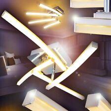 LED Lámpara de techo moderno cromo luces giratorias salón dormitorio pasillo
