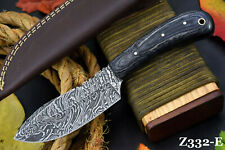 Custom Damascus Steel Hunting Knife Handmade With Wooden Handle (Z332-E)