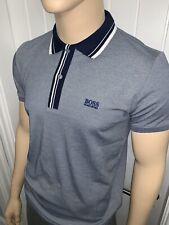"Neues AngebotHugo Boss Paddy 2 Polo Shirt grau XLarge 42/44"" Brustumfang £ 39.99"