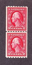 US 442 2c Washington Mint Line Pair VF-XF OG NH SCV $130