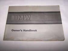 Bmw 325 325i/Convertible 325is Owner's Handbook Dated 1986 - 479 750 767