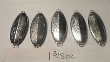 50ct. -  1 3/8oz. Unpainted Casting Jigging Spoons/Slabs - D&L Jigs & More- BASS