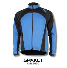 Spakct Fleece Thermal Long Jersey Cycling Jacket  Blue XL CSY203C Unisex Adults