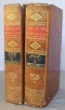 OEUVRES DE DEMOUSTIER / T1 & 2 / THEATRE, MORALE, CONSOLATIONS / RELIURE 1804