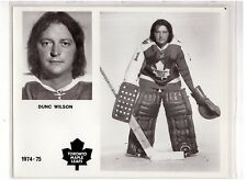 DUNC WILSON 1974-75 TORONTO MAPLE LEAFS ORIGINAL TEAM ISSUE 8x10 PHOTOGRAPH NHL