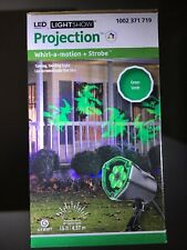 Lightshow Projection Halloween LED Whirl-a-motion+Strobe Light. Green