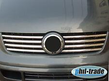 VW T5 Transporter Chrom Kühler Grill Leisten 8tlg Edelstahl BJ 2003-2009