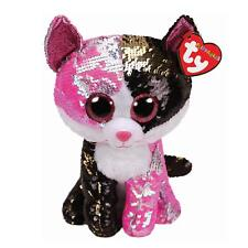 TY FLIPPABLES BEANIE BABIES BOOS RARE MALIBU CAT PLUSH SOFT TOY NEW WITH TAGS