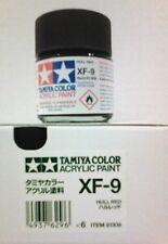 Tamiya acrylic paint. XF-9 Hull red, 23ml.
