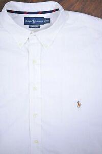 Polo Ralph Lauren SS Oxford Button Front Shirt White Men's 2XLT