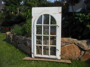 selten altes Fenster Flügel Holz Sprossen Deko Shabby