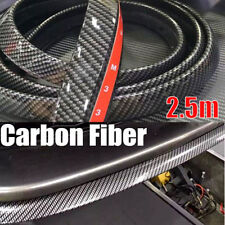Universal Carbon Fiber PU Front Bumper Lip Splitter Chin Spoiler Body Kit Trim
