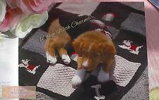 Dog Coat & Matching Blanket Knitting Pattern, Patches, Bone, Kennel & Dog Motif!