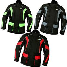Giacche impermeabili neri per motociclista cordura