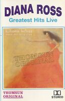 Diana Ross .. Greatest Hits Live.. Import Cassette Tape