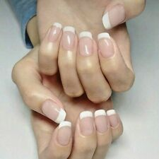 2 packs of 12x  Press on False Nails Polished Painted French Manicure Beauty