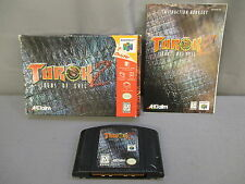 "Nintendo 64 ""Turok 2"" Seeds Of Evil Game w/ Box & Instructions 1998 N64"