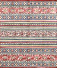 BREATHTAKING 8'x10' Wool Chechen-Kazak Hand-Knotted Pakistan Oriental Area Rug