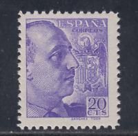 ESPAÑA (1939) NUEVO SIN FIJASELLOS MNH SPAIN - EDIFIL 867 (20 cts) FRANCO LOTE 2