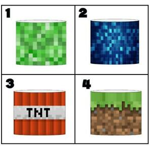 """PIXELS MINING GAME Ceiling Light Shade Lampshade 8""""/20cm in 4 DESIGNS FREE POST"""