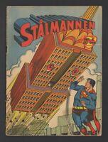 Superman - Stålmannen - DC Comics - 1958 Vintage Swedish Comic #Nr 4