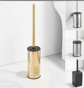 Stainless Steel 304 Toilet Brushes +Holder Bathroom Cleaner Sets Gold, Black New