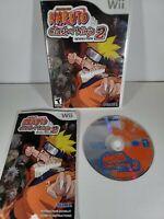 Naruto Clash of Ninja Revolution 2 (Nintendo Wii, 2008) Video Game Complete CIB
