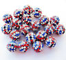 10Pcs Colorful Crystal Pave Clay Disco Ball Loose Spacer Beads Finding DIY 10MM