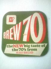 Vintage WHITBREAD CASTLE EDEN  Cat No'01     Beermat / Coaster