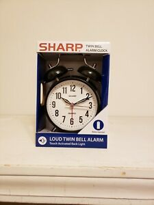 NEW🔥 SHARP Metal Alarm Clock Loud Twin Bell Alarm Touch Activated Backlight 851