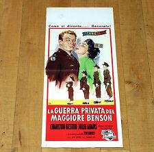 LA GUERRA PRIVATA DEL MAGGIORE BENSON locandina poster Charlton Heston Adams F25