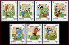 CAMBODGE Kampuchea N°857/863** Football 1989, CAMBODIA World Cup Soccer MNH