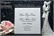 Wedding Invitation Suite Letterpress Elegant SAMPLE Pack