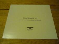 Brochures Bentley Car Manuals and Literature