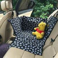 Luxury Dog Car Seat Cover Waterproof Hammock for Cat Pet Car Back Rear Bench