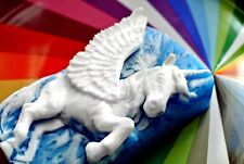 UNICORN SOAP SILICONE MOULD RESIN PLASTER CLAY WAX MOLD 5,5OZ pegasus horse