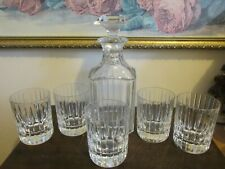 Baccarat France Crystal Old Fashioned Decanter And Set Of 5 Tumbler Harmonie