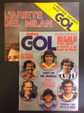 SUPERGOL 14 ANNO 1983 MARZO. COMPLETO POSTER HATLEY MILAN IN PERFETTE CONDIZIONI