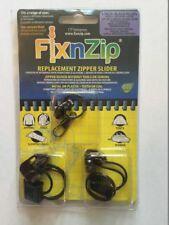 Fix N zip Media Nera Nickel Sostituzione Zip Cappotto Giacca da moto confezione da 3