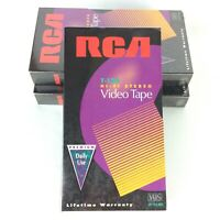 RCA VHS Blank Tapes T-120 Hi-Fi Stereo Up To 6 Hours Lot Of 3