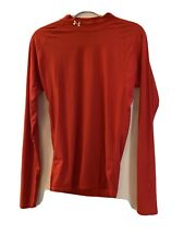 Under Armour long sleeve Compression mock Red Turtleneck shirt Xl Mens