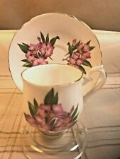 RARE SHELLEY COFFEE CUP & SAUCER Oleander Pattern on an Unnamed Shape*