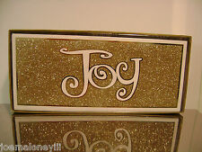 Christmas Cards Boxed Lord & Taylor Gold Christmas Joy Holiday Cards 16/Ct