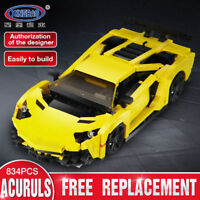 Xingbao Building Blocks Toys Gifts Easter Super Yellow Racing Car Construction