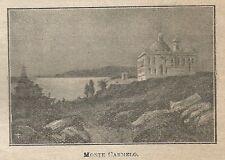 A0915 Israele - Monte Carmelo - Stampa Antica del 1911 - Xilografia
