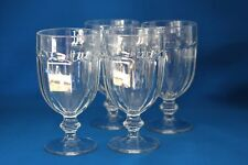 VINTAGE LIBBEY DURATUFF GILBRALTER  CLEAR  GOBLETS SET OF 4