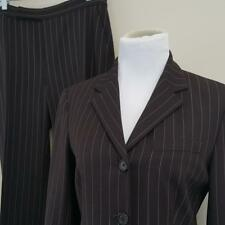 LRL Ralph Lauren Pant Suit Womens sz 6 Lined Blazer 31x31 Wool Stretch Brown